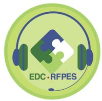 edc conference logo with headsets